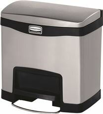 Slim Jim® Front 4 Gallon Step On Curbside Trash & Recycling Bin By Rubbermaid Commercial Products