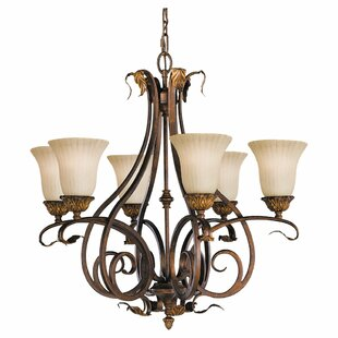 Astoria Grand Oxton 6-Light Shaded Chandelier