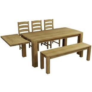 Aimee Extendable Dining Table And 3 Chairs By Natur Pur
