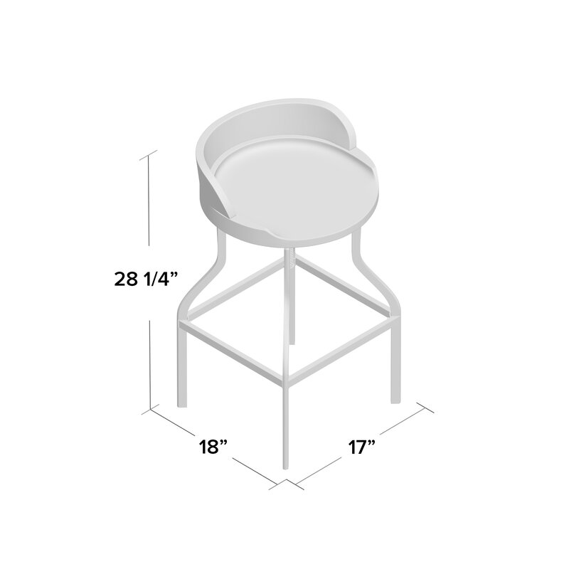 a8bc854f4f3 Essonnes Adjustable Height Swivel Bar Stool   Reviews