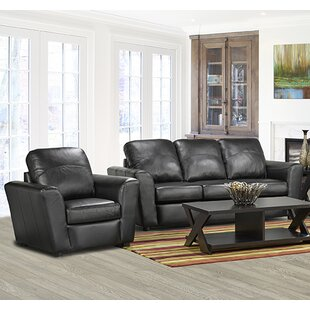 Coja Delta Leather 2 Piece Living Room Set