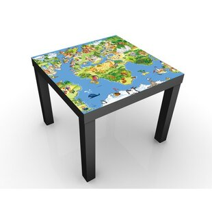 Karlin Great And Funny Worldmap Children's Table By Zoomie Kids