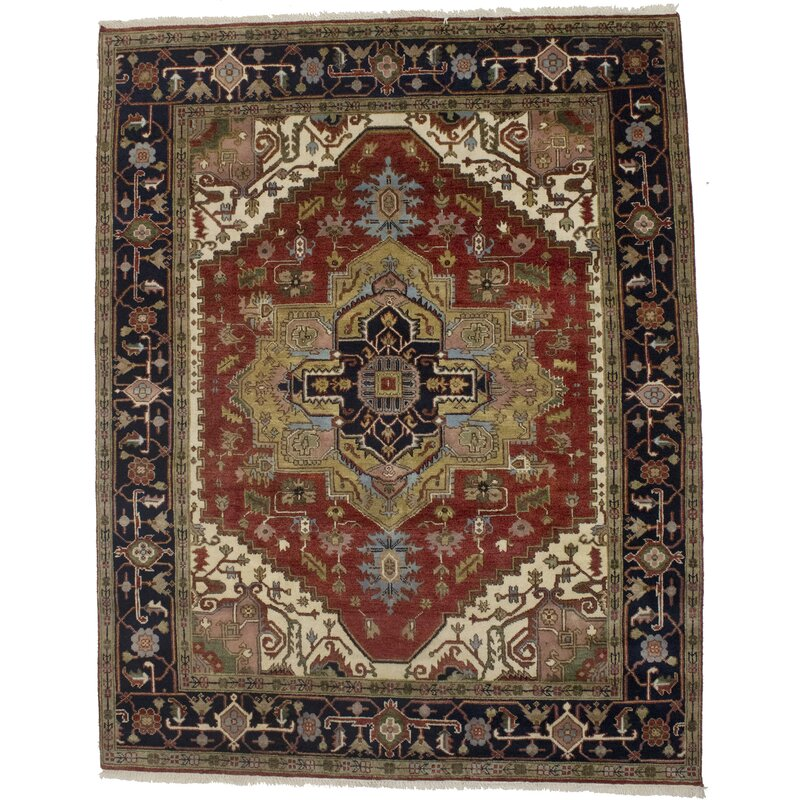 Bloomsbury Market Bryna Oriental Hand Knotted Wool Rusty Red Area Rug Wayfair