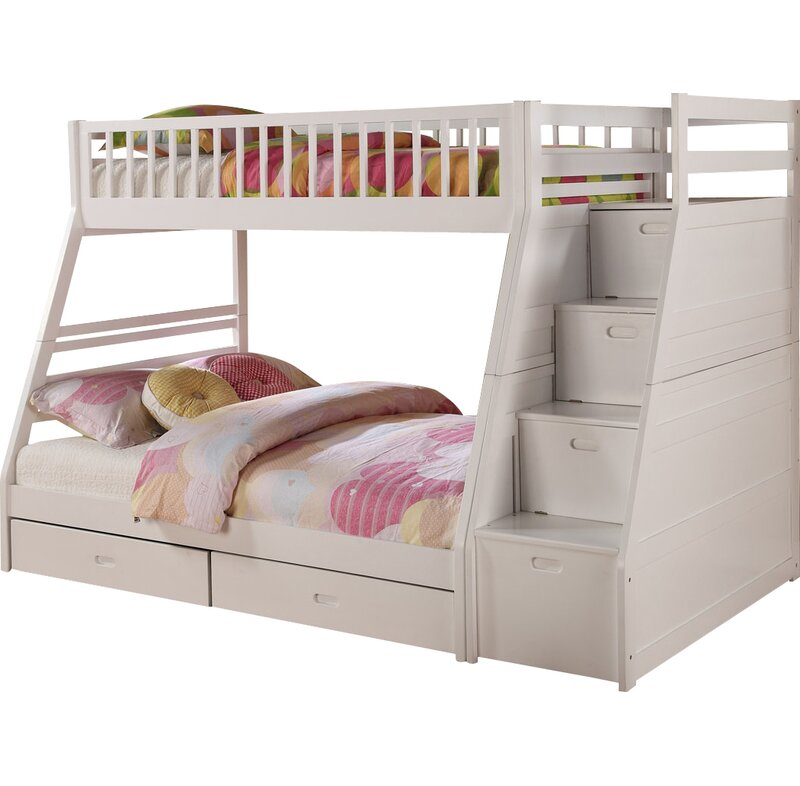 Viv Rae Pierre Twin Over Full Bunk Bed With Storage