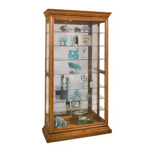 Goldenberg Lighted Curio Cabinet by Darby Home Co