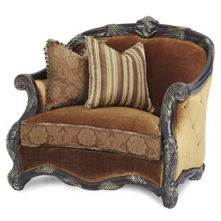 Essex Manor Chair and a Half and Ottoman by Michael Amini