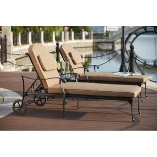 Astoria Grand Melchior 3 Piece Chaise Lounge Set with Cushions
