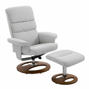 Lindsey Manual Swivel Recliner With Footstool By George Oliver
