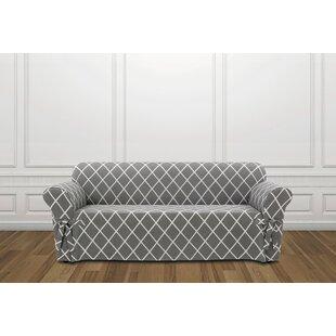 Lattice Box Cushion Sofa Slipcover by Sure Fit