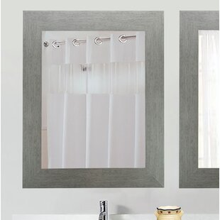 Tippett Brushed Silver Wall Mirror by Brayden Studio