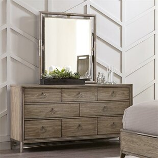 One Allium Way Almazan 8 Drawer Dresser with Mirror