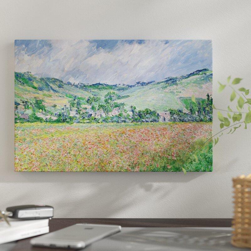 Vault W Artwork The Poppy Field Near Giverny 1885 Claude Monet Print On Wrapped Canvas Wayfair Ca