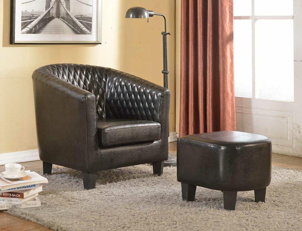 Salter Barrel Chair and Ottoman