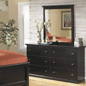 Beaumont 6 Drawer Dresser with Mirror by Three Posts