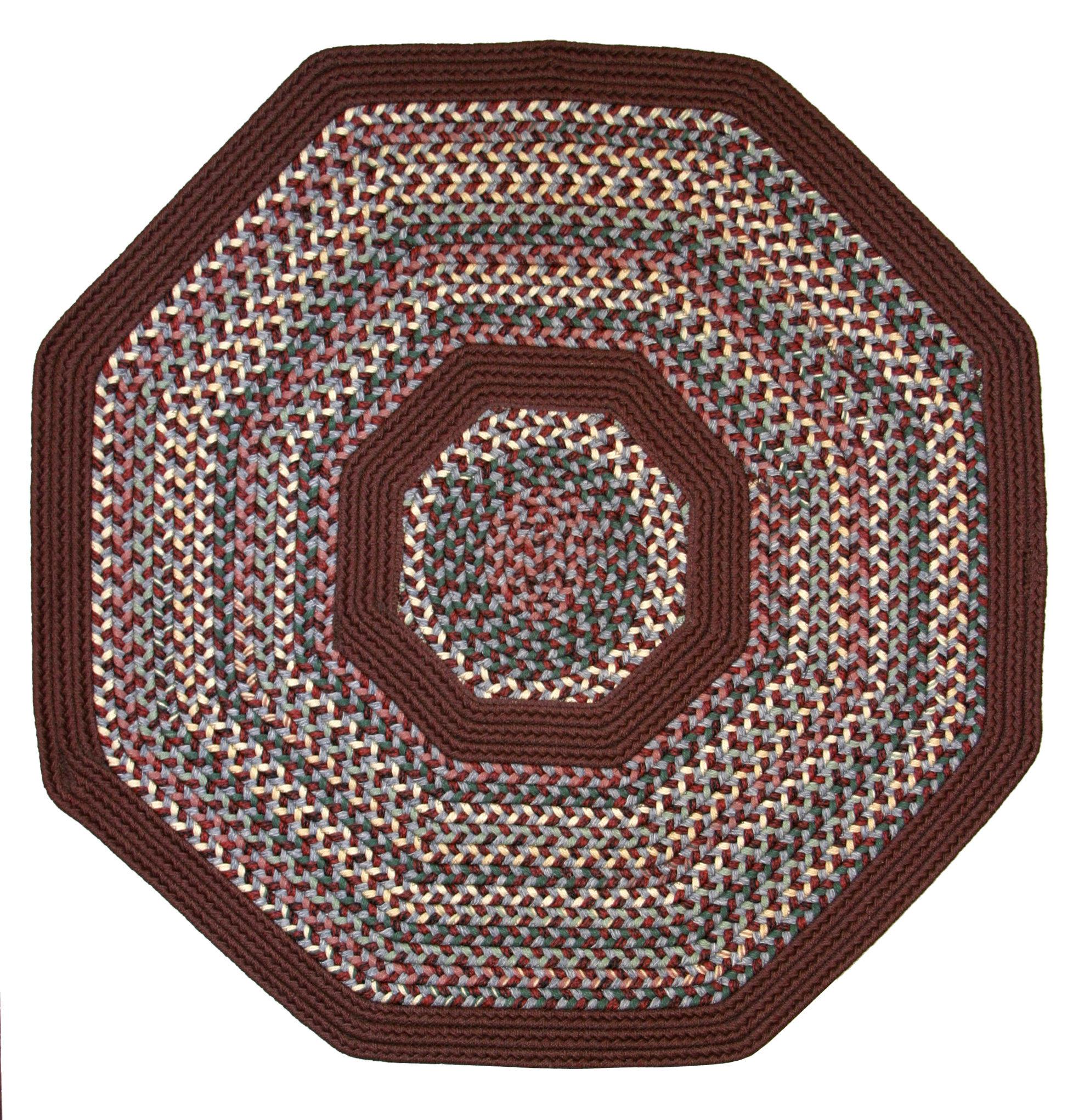 Thorndike Mills Pioneer Valley Ii Indian Summer With Burgundy Solids Octagon Rug Wayfair