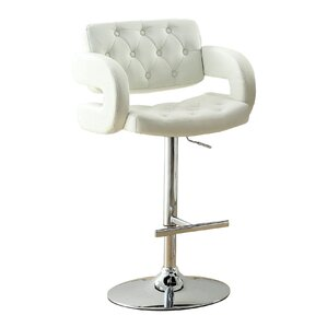 Lesticia Adjustable Height Swivel Bar Stool by Hokku Designs