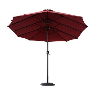 Nguyet Outdoor Patio 15' Double Sided Market Umbrella