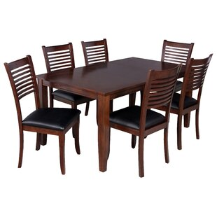 TTP Furnish Aden 7 Piece Dining Set