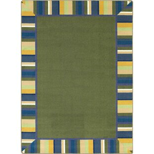 Compare prices Clean Bold Green Area Rug ByThe Conestoga Trading Co.