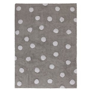 Dots Hand-Tufted Grey Area Rug by Lorena Canals