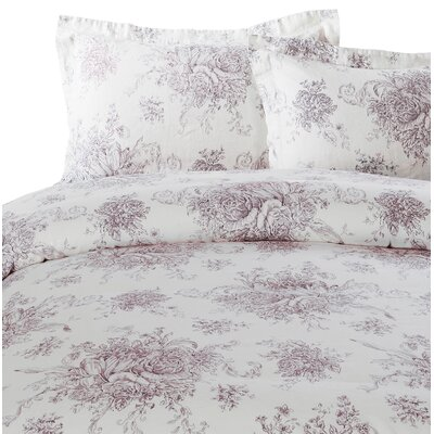 hemstitch toile 3 piece duvet set