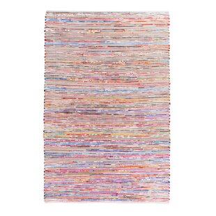 Find Bartin Handwoven White/Purple Area Rug By Home Loft Concepts