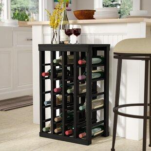 Karnes Redwood Table Top 24 Bottle Floor Wine Rack