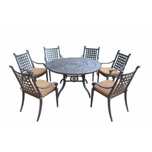 Darby Home Co Arness 10 Piece Metal Dining Set and Lounge Set