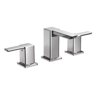 Moen 90 Degree Widespread Bathroom Faucet with Drain Assembly