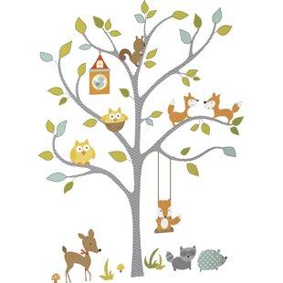 Juhl Woodland Fox And Friends Tree Wall Decal