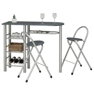 Review Bar Set With Wine Storage