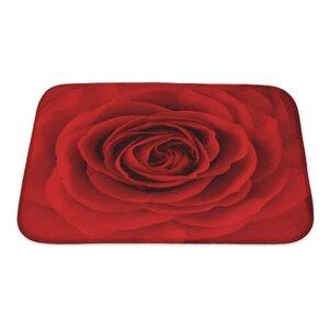 Flowers Rose Flower, Oil Painting Bath Rug