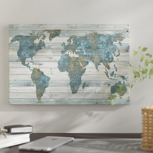 World map push pin wayfair world map on wood print on canvas gumiabroncs Gallery