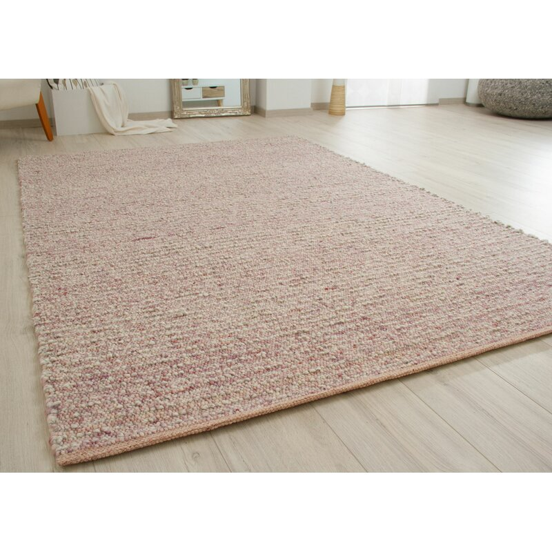 August Grove Jeremy Handwoven Wool Pink
