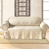 Scroll Classic Box Cushion Sofa Slipcover by Sure Fit
