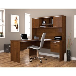 Flare 2-PIece L-Shape Executive Desk Office Suite by Bestar 2019 Sale