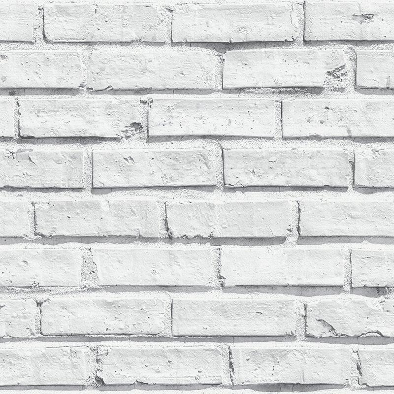 """31.5' x 21"""" Brick Wallpaper Roll"""
