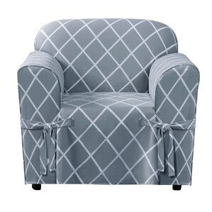 Lattice Box Cushion Armchair Slipcover by Sure Fit