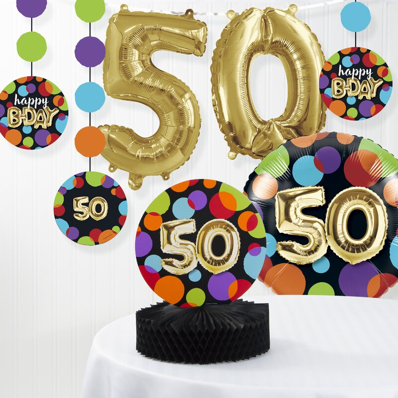 Balloon 50th Birthday Decorations Kit