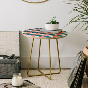 The Old Art Studio Geometric End Table by East Urban Home