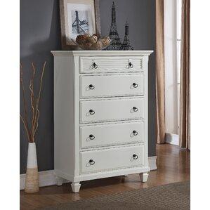 Regitina 5 Drawer Chest by Roundhill Furniture