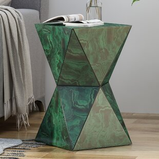 Beiler Tempered Glass Hourglass End Table by Brayden Studio