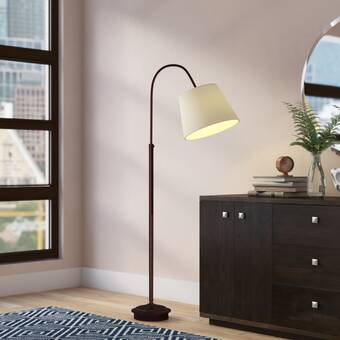 Wrought Studio Toombs 58 Column Floor Lamp Reviews Wayfair