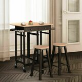Ernie Rolling Wood Kitchen Island Set by Red Barrel Studio®