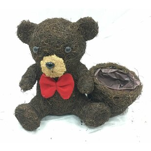 Ewell Brushwood Teddy Rattan Statue Planter By Brambly Cottage