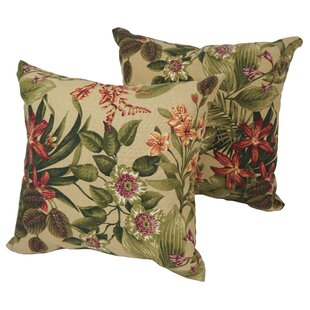 Karimi Day Lily Outdoor Throw Pillow (Set of 2)