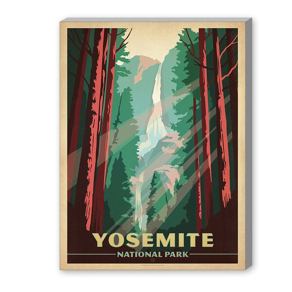 East Urban Home Yosemite National Park Vintage Advertisement On Gallery Wrapped Canvas By Anderson Design Group Reviews Wayfair