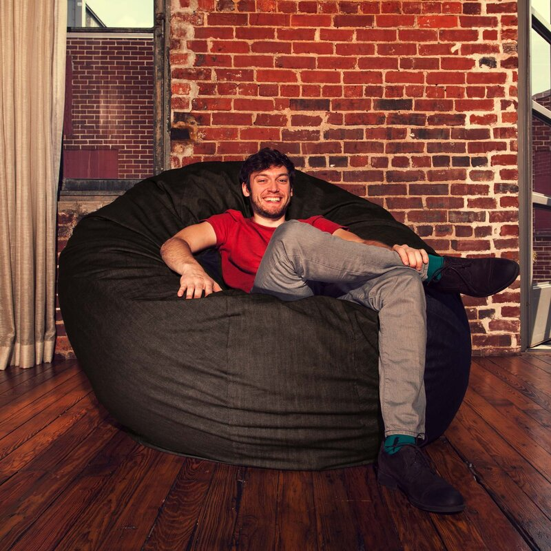 Denim Cocoon 6u0027 Bean Bag Chair