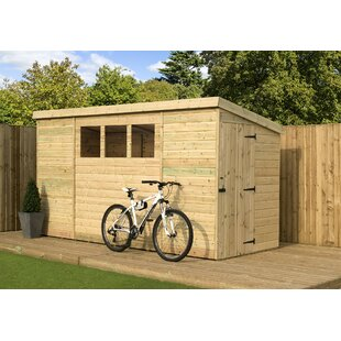 6 Ft. W X 14 Ft. D Shiplap Pent Wooden Shed By WFX Utility