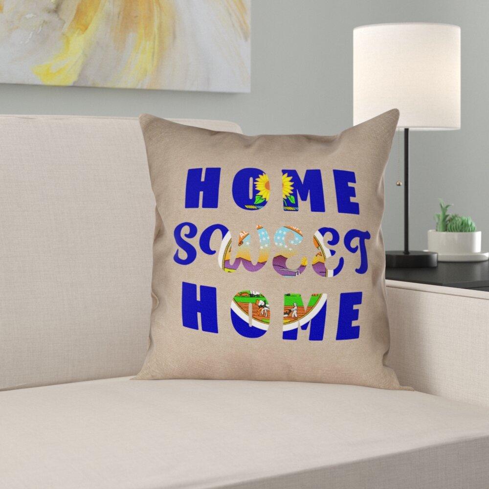 Ebern Designs Fawcett Home Sweet Kansas Pillow Wayfair Ca